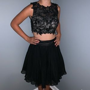 Two piece black formal  dress size 2